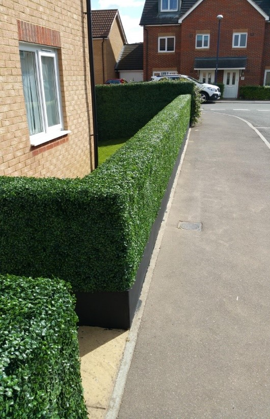 artificial grass hedges