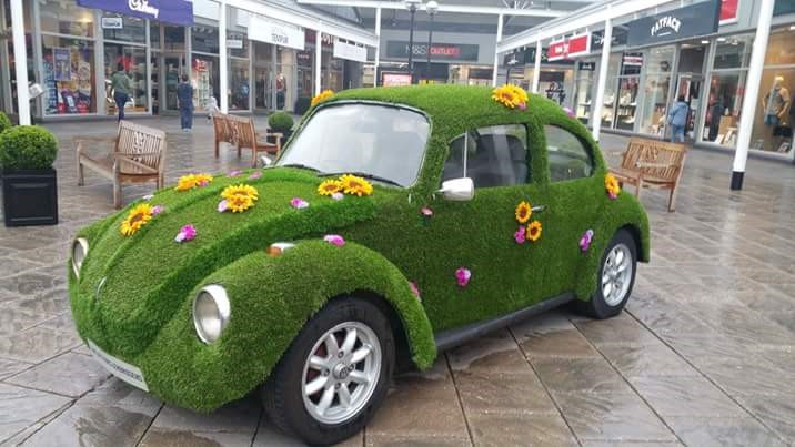artificial grass corporate car