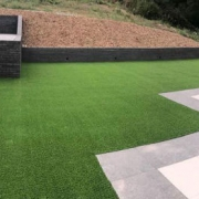 artificial grass terrace