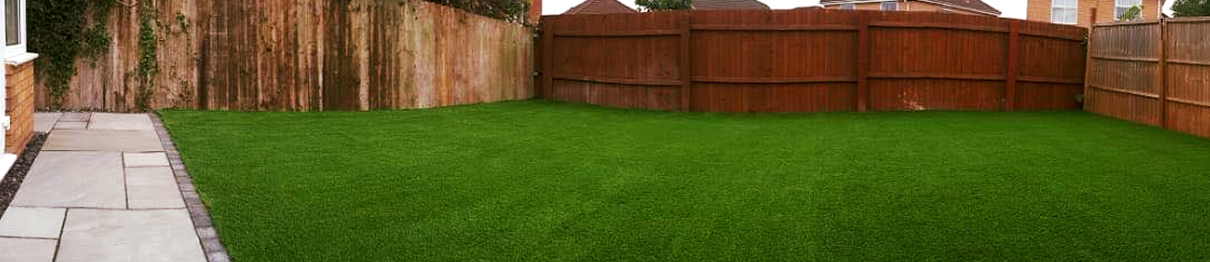artificial grass fence