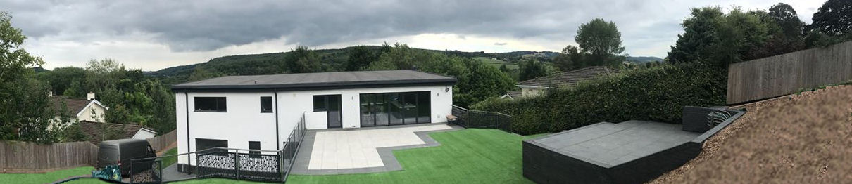 artificial grass house