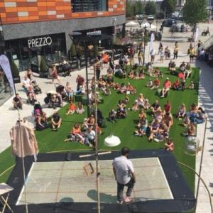 artificial grass corporate event