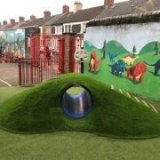 artificial grass mound