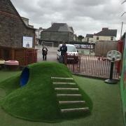 artificial grass play areas
