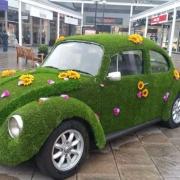 artificial grass car