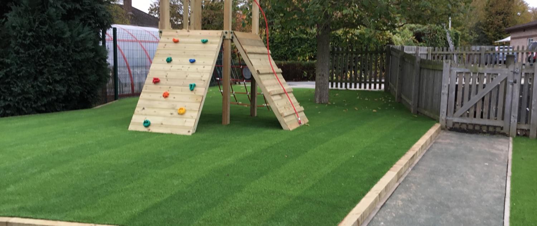artificial grass area