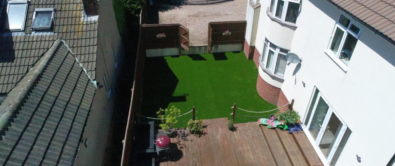 artificial grass decking