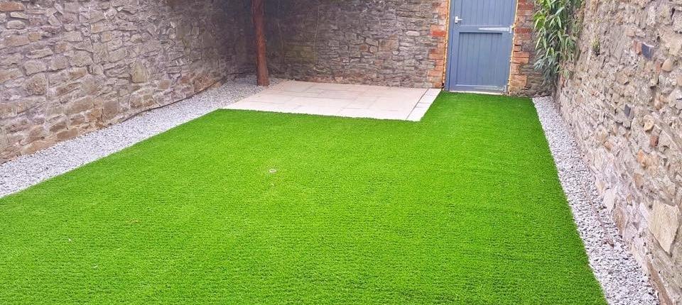 artificial grass small patio